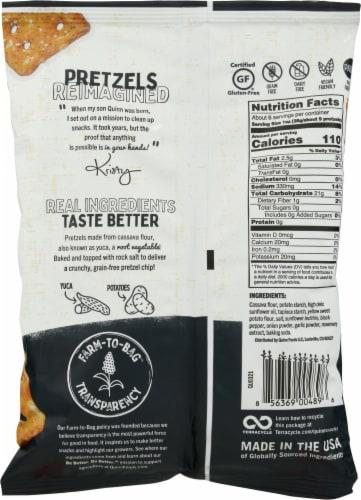 Quinn® Grain Free Cracked Pepper and Sea Salt Pretzel Chips Perspective: back