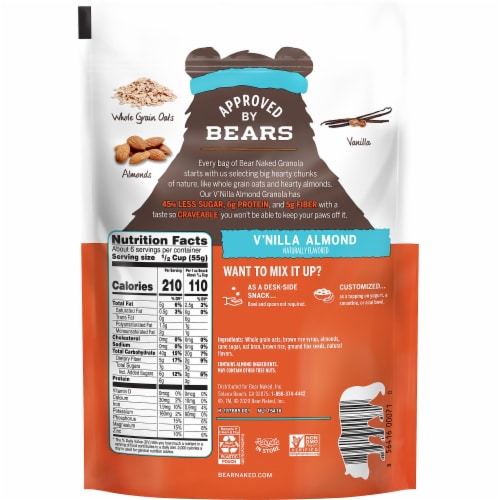 Bear Naked Fit V'nilla Almond Granola Perspective: back