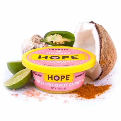 Hope Foods Organic Thai Coconut Curry Hummus Perspective: back