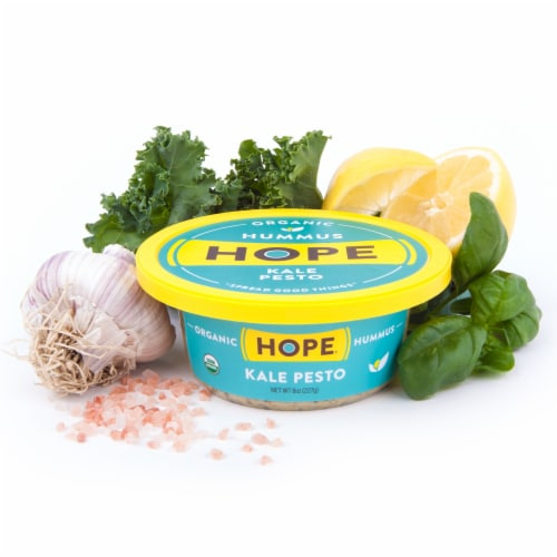 Hope Foods Organic Kale Pesto Hummus Perspective: back