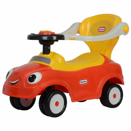Best Ride On Cars Baby 3 in 1 Little Tikes Push Car Stroller Ride On Toy, Red Perspective: back
