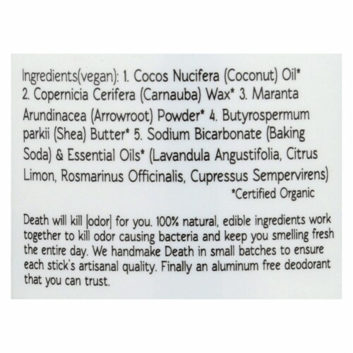 North Coast Organics Deodorant - Death By Lavender -  - 2.5 oz. - Pack of 3 Perspective: back