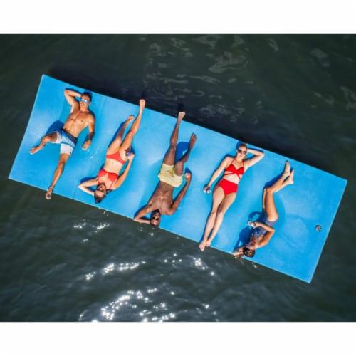Floatation iQ Floating Oasis 15 x 6 Ft Foam Island Water Lake Pad Mat, Camo Perspective: back