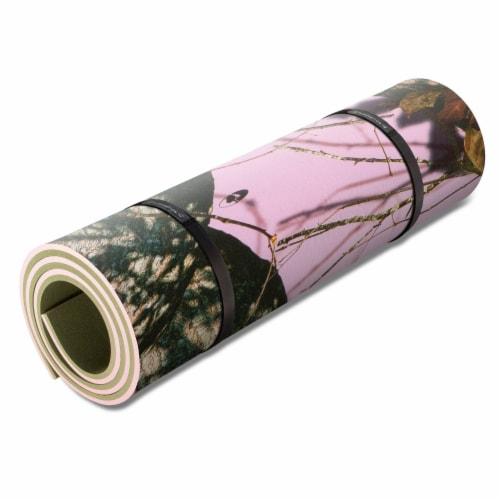 Floatation iQ Floating Oasis 15 x 6 Ft Foam Island Water Lake Pad Mat, Pink Camo Perspective: back