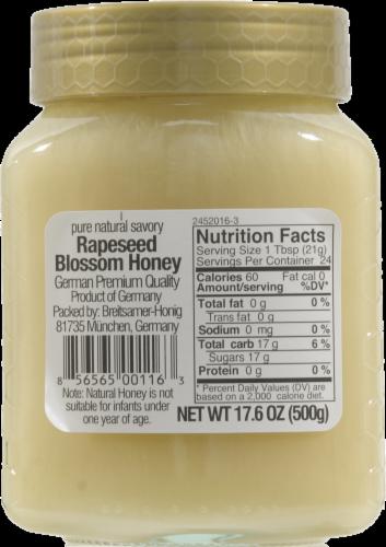 Breitsamer Honig Rapsflower Blossom Honey Perspective: back
