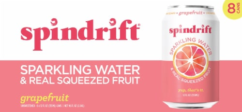 Spindrift Grapefruit Unsweetened Sparkling Water Perspective: back