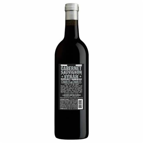 Charles & Charles Red Blend Wine Perspective: back