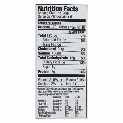 The Good Bean Fava/Peas - Sea Salt - Case of 6 - 6 oz Perspective: back