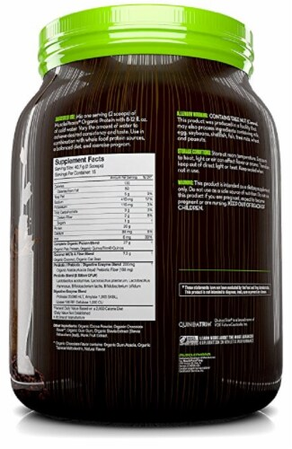 MusclePharm Organic Chocolate Protein Powder Perspective: back