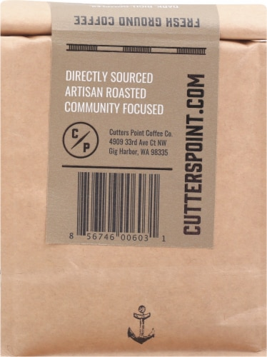 Cutters Point Coffee Co. Fishermen's Blend Dark Roast Ground Coffee Perspective: back