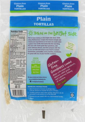 Rudi's Gluten Free Plain Tortilla Perspective: back