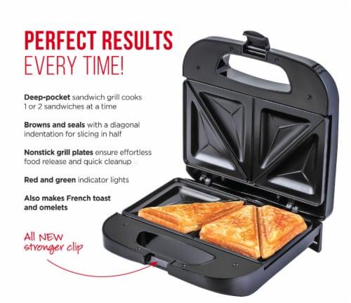 Chefman Electric Sandwich Maker Machine - Black Perspective: back