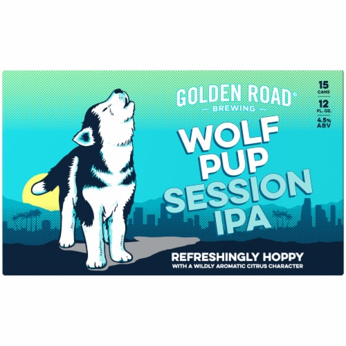 Golden Road Brewing Wolf Pup Session IPA Perspective: back