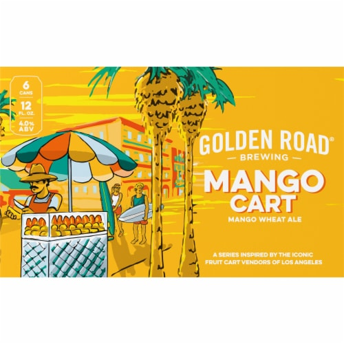 Golden Road Brewing Mango Cart Wheat Ale Perspective: back