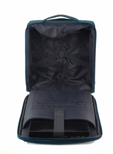 Swissdigital Basel Luggage - Teal Perspective: back