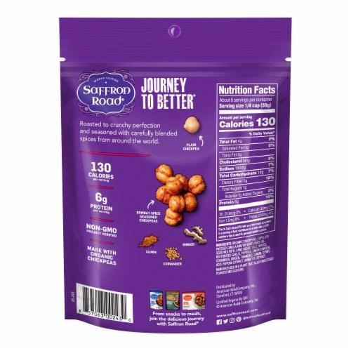Saffron Road Bombay Spice Crunchy Chickpeas Perspective: back