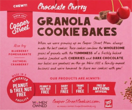 Cooper Street Chocolate Cherry Granola Cookie Bakes 6 Count Perspective: back