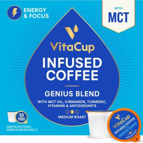 VitaCup Genius Blend Vitamin Infused Coffee Pods Perspective: back