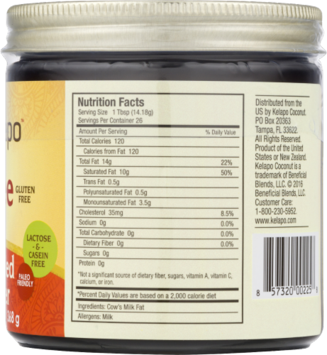 Kelapo Ghee Clarified Butter Perspective: back