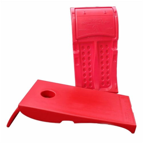 Driveway Games All Weather Outdoor Corntoss Cornhole Bean Bag Toss Game, Red Perspective: back