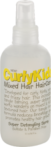 Curly Kids Mixed Hair Care Super Detangling Spray Perspective: back