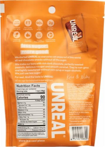 Unreal® Dark Chocolate Caramel Peanut Nougat Bars Perspective: back