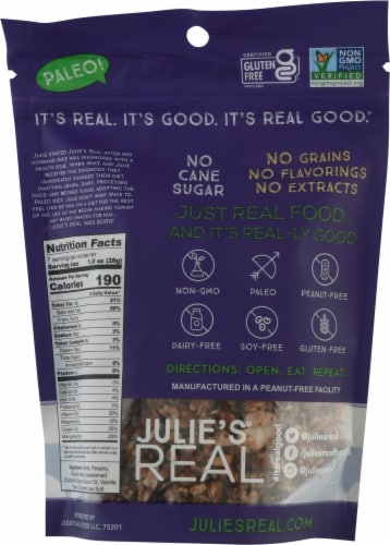 Julie's® Real Cinnamon Vanilla Bean Grain Free Granola Perspective: back