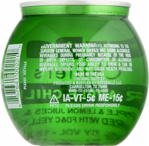 BuzzBallz Chillers Sour Apple Chiller Cocktail Perspective: back