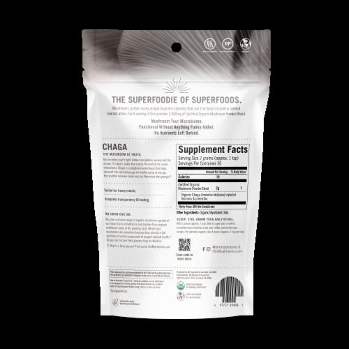 Om Organic Chaga Mushroom Nutrition Supplement Powder Perspective: back