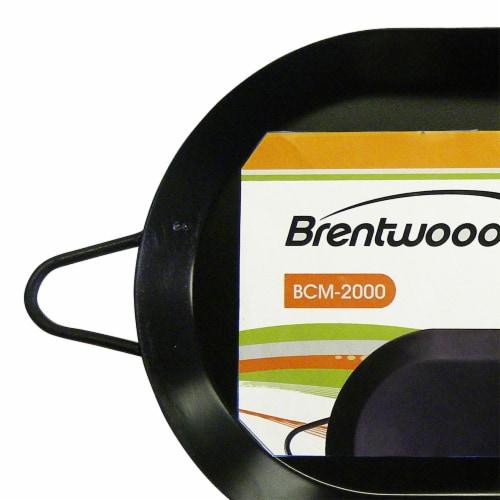 Brentwood 18 inch Carbon Steel Non-Stick Double Burner Comal Griddle, Black Perspective: back