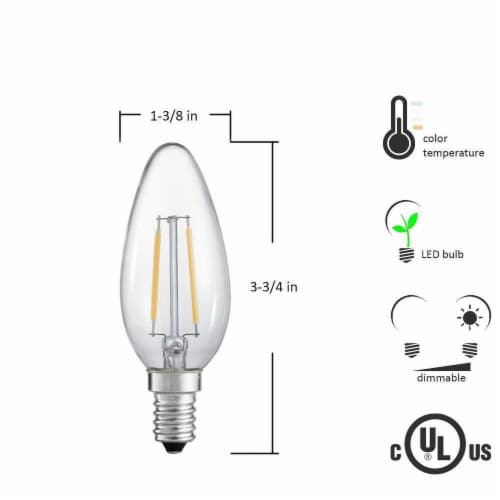 Torpedo 20W Equivalent Warm White Candelabra Dimmable LED Light Bulb Perspective: back