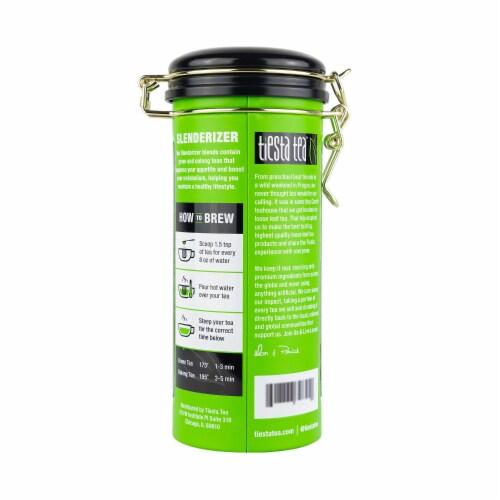 Tiesta Tea Lean Green Machine Light Citrus Loose Leaf Green Tea Perspective: back