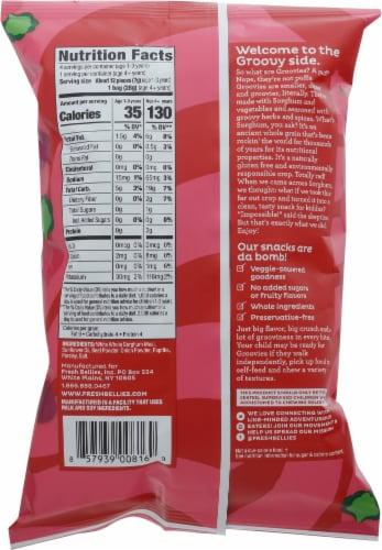 Fresh Bellies® Groovies™ Beet & Onion & Paprika Sorghum Veggie Puffs Perspective: back