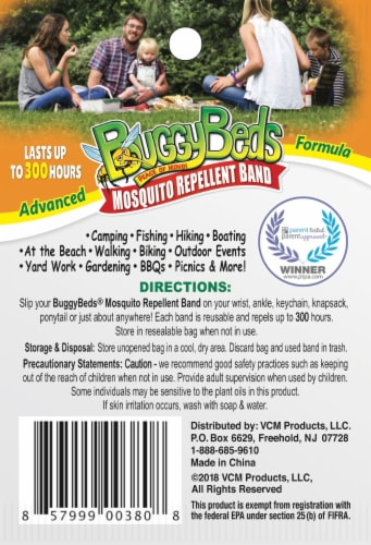 BuggyBands Mosquito Repellent Band - Assorted Perspective: back