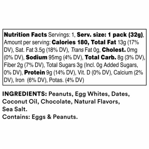 RXBAR Chocolate Peanut Butter Nut & Protein Spread Perspective: back