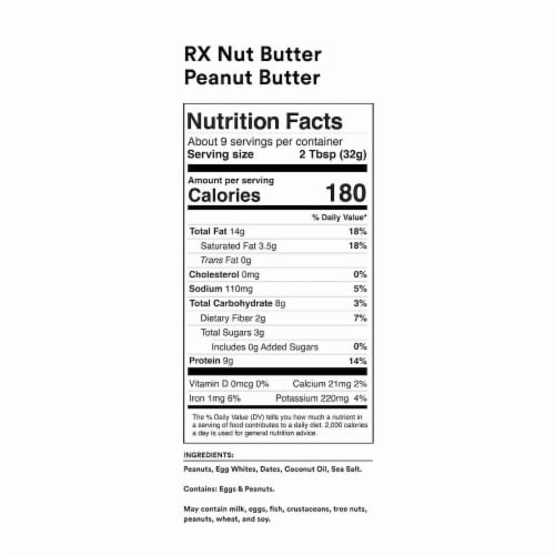 RXBAR Nut Butter Nut & Protein Spread Perspective: back