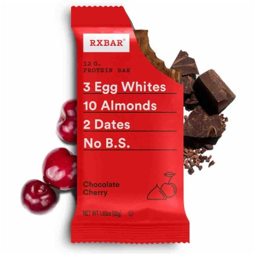 RXBAR Chocolate Cherry Protein Bar Perspective: back