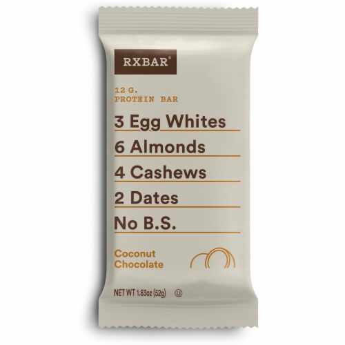 RXBAR Coconut Chocolate Protein Bars 5 Count Perspective: back