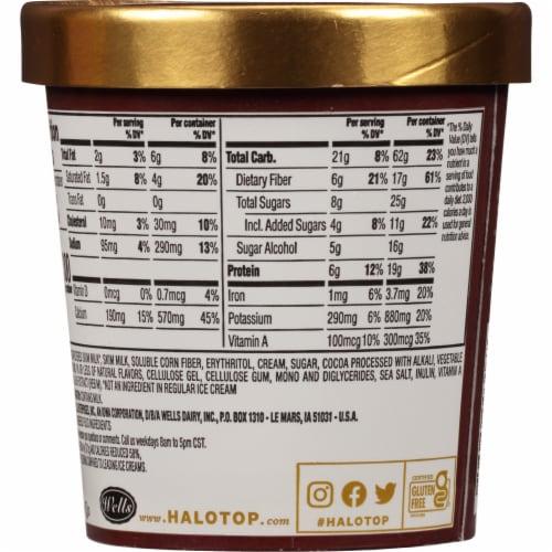Halo Top® Chocolate Light Ice Cream Perspective: back