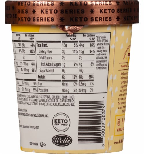 Halo Top Keto Macadamia Nut Cookie Ice Cream Perspective: back