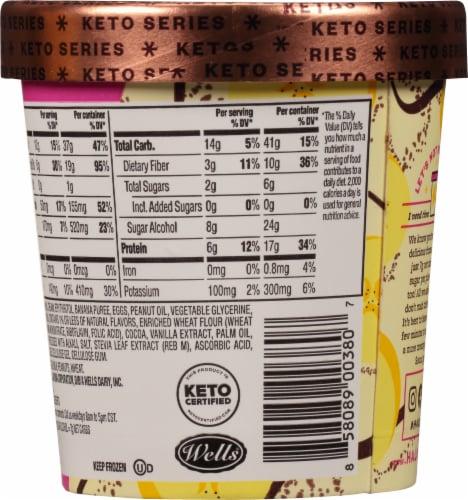 Halo Top Keto Banana Cream Pie Ice Cream Perspective: back