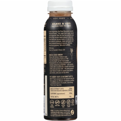 REBBL Vanilla & Maca Cold-Brew Coffee Super Herb Powered Coconut-Milk Elixir Perspective: back