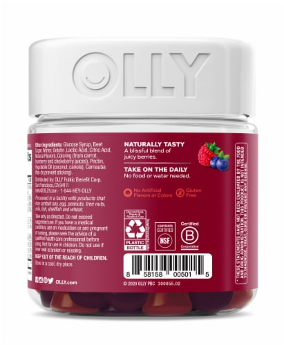 Olly The Perfect Women's Berry Multi-Vitamin Gummies Perspective: back