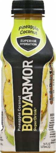 BODYARMOR SuperDrink Pineapple Coconut Sports Drink Perspective: back