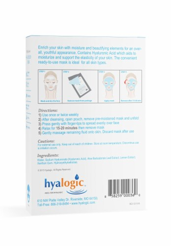 Ha Moisture Mask 4-Pack with Hyaluronic Acid Perspective: back