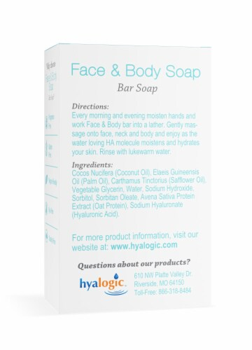 Face & Body Bar Soap with Hyaluronic Acid Perspective: back