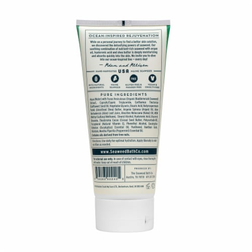 The Seaweed Bath Co. Eucalyptus & Peppermint Hydrating Soothing Body Cream Perspective: back