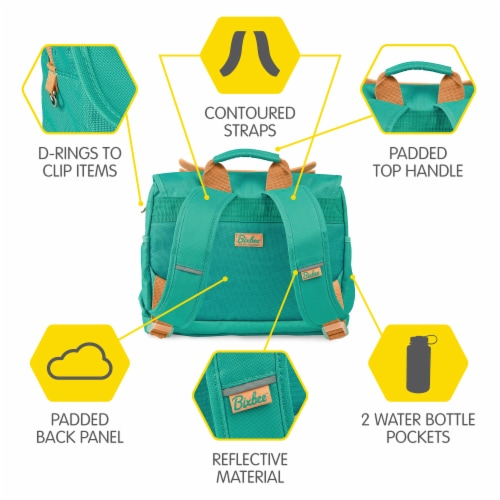 Bixbee Animal Pack Small Owl Backpack Perspective: back
