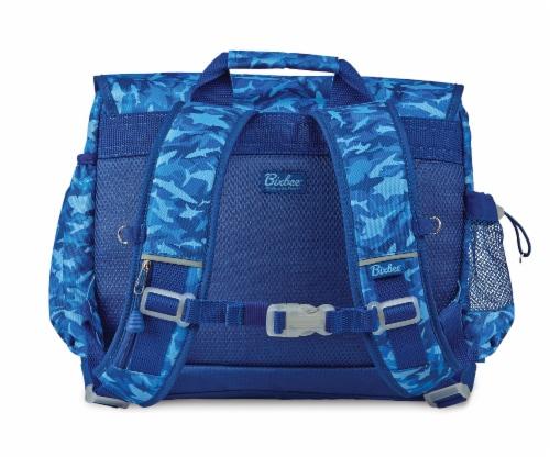 Bixbee Large Shark Camo Backpack - Blue Perspective: back