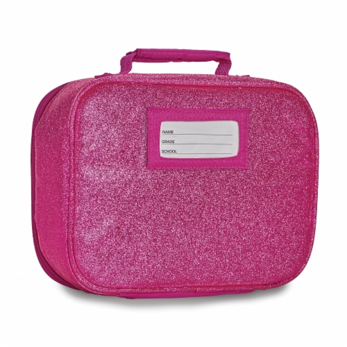Bixbee Sparkalicious Lunchbox - Ruby Raspberry Perspective: back